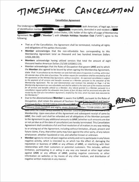 Timeshare Deed Back Sample Letter from dramerlaw.com